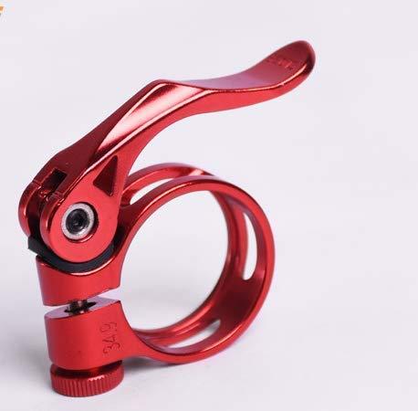 CarbonEnmy Alu - Abrazadera para sillín de bicicleta (34,9-35 mm, luz roja)