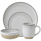 ED Ellen DeGeneres Crafted by Royal Doulton® Brushed Glaze 16-Piece Dinnerware Set in White - Bed Bath & Beyond