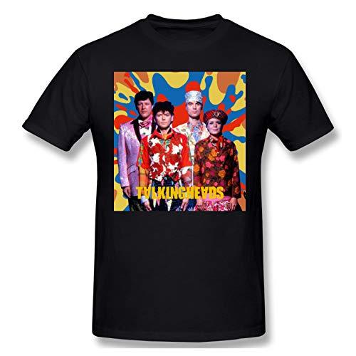 AJY Talking Heads -5 Men's Basic Short Sleeve T-Shirt Black 3X-Large
