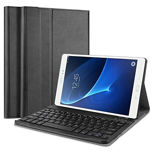 QYiD Keyboard Case for Galaxy Tab S3 9.7 SM-T820 / T825, Lightweight Leather Stand Cover with Magnetically Detachable Wireless Keyboard for Galaxy Tab S3 Tablet (9.7 Inch, SM-T820 T825 T827), Black