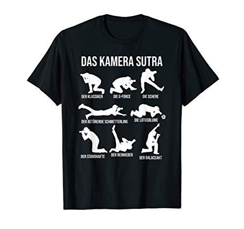 Das Kamera-Sutra Lustige Fotografie-Haltungen Fotograf T-Shirt