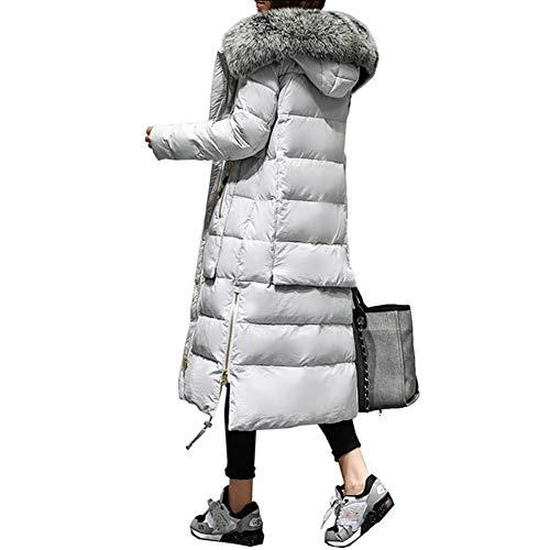 Dotoo Winter Frauen Warm Weiße Entendaune Lange Legere Jacke Daunenmantel Mit Kapuze Fellkragen M