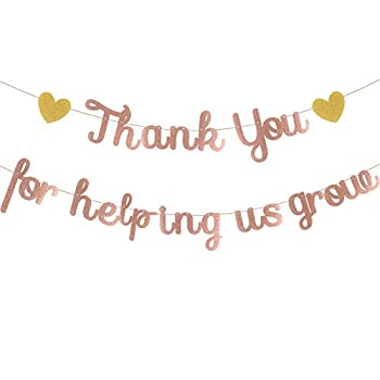 Teacher Appreciation Sign Thank You for Helping us Grow Banner Rose Gold Greenary Thank You Congrats Signs Graduation Party Decorations Thankful Teacher Family Party Decor