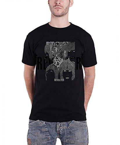 The Beatles T Shirt Revolver Reverse Album Cover Logo offiziell Herren