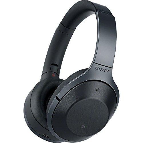 Sony MDR-1000X/B Black Hi-Res Bluetooth Wireless Noise Cancelling Headphones (Renewed)