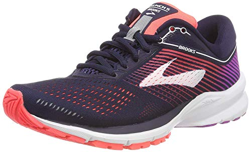 Brooks Launch 5 Navy/Coral/Purple 9.5