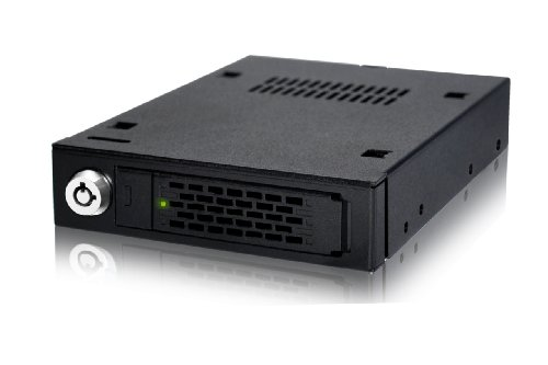 ICY DOCK SAS 12GBit / SATA Hot Swap Wechselrahmen für 2,5 Zoll (6,4cm) SSD/HDD - Vollmetall ToughArmor MB991IK-B