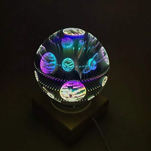 Mrjg Kristallkugel Coole Neuheit Stern-Nachtlicht kreative magischer Glaskugel-Sternenhimmel Licht Dekoration Tischlampe Christams Feuerwerk-Nachtlicht glaskugel (Emitting Color : 5)