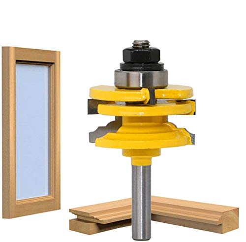 APlus Verleimfräser 8mm Gehrung Verleimfräser Oberfräse Lock Miter Router Bit Holzbearbeitung Fräser Schneidwerkzeug für Graviermaschine Trimmmaschine