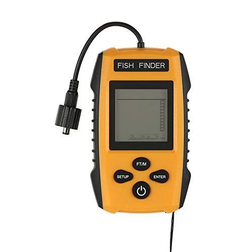 Fanuse Sonda PortáTil Buscador de Peces Pesca Kayak Buscador de Peces Buscador de Profundidad de Peces Echo Sounder Equipo de Pesca con Pantalla LCD