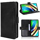 LOWPZNVE Phone Case for Moto G Stylus 2021,Full Body Protection Shockproof Flip Leather Wallet Case Cover[Card Slot Holder][Kickstand ][Magnetic] for Motorola Moto G Stylus 2021 (Black)