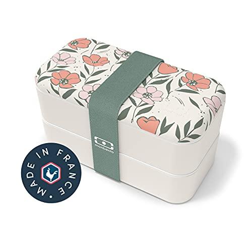 monbento - MB Original bento box Graphic Bloom Made in France - Lunch box motif fleurs hermétique 2 étages -...
