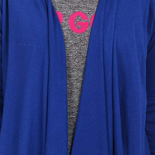 Teemoods Women's Cotton Full Sleeves Blue Waterfall Shrug, Fashionable Summer Shrug