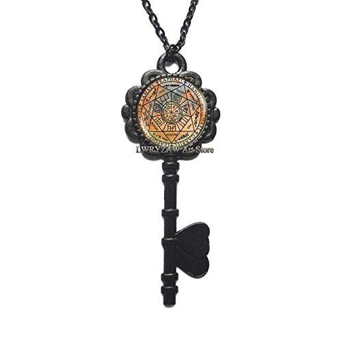 Arch angels Key Necklace, seven arch angels pendant protection amulet,God Arch angels archangel michael pendant gabriel archangel sigils Key Necklace,M16