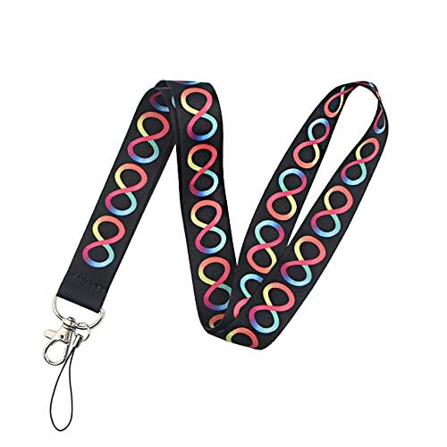 FYMIJJ Cordón con Estampado Wave Point para Llaves Insignias de Seguridad Cool USB ID Badge Holder Correas para el Cuello del teléfono Cordones de Cuerda para Colgar, 1
