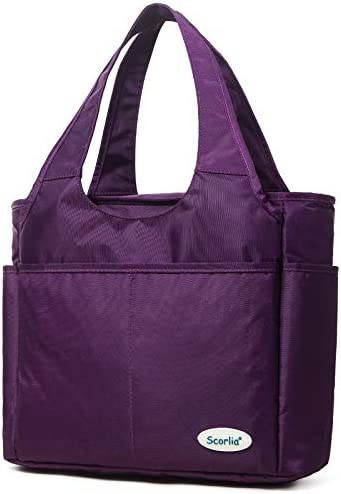 Insulated Lunch Shoulder bag SCORLIA Extra Large Lunch Tote Handbag Durable Reusable Cooler product image