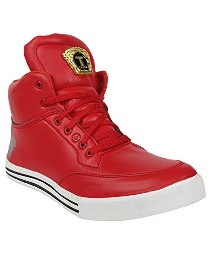 Kanoor Men's red Color Long Shoes/Boot