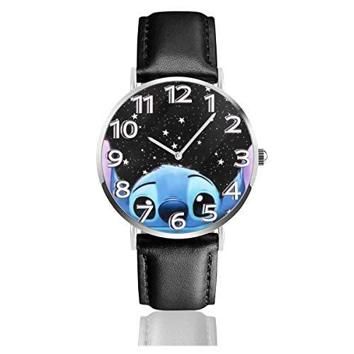 Stitch Reloj Unisex Easy Reader de Cuarzo analógico de 38 mm con Correa de Cuero