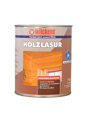 Holzlasur LF ca 32 m² Lasur Weiß 2,5 l Holzanstrich seidenglanz Wilckens Innen Außen