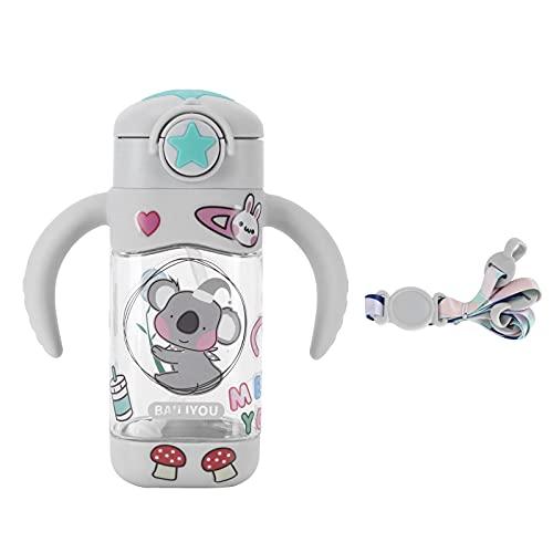 Jopwkuin Taza de Vidrio, Taza de Agua Caliente Que Ahorra Fuerza Seguro y fácil de succionar Respetuoso con el Medio Ambiente para el hogar(Grey)