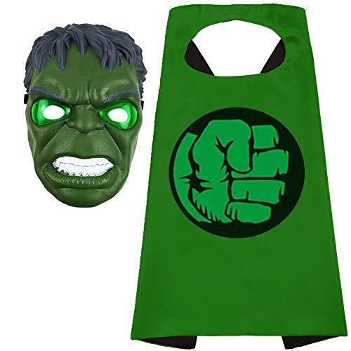 Superhero Cape and Masks Superhero Hulk Toy for 3-10 Year Old Boys Superhero Dress up Masks Kid Best Gifts