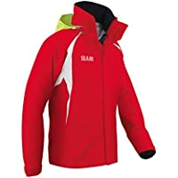 Slam Force 1 - Chaqueta impermeable (10,000 mm, 100% nailon), XXXL, Rojo