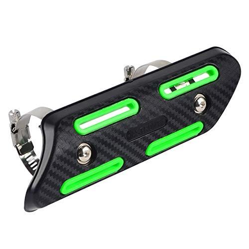 Motocicleta molduras Silenciador de Escape Heat Pipe Escudo Protector de la Cubierta en Forma for SXF SXF EXCF EXCF SMR 250 350 450 500 Fit for Sherco SEFR SEFR 300 (Color : Green)