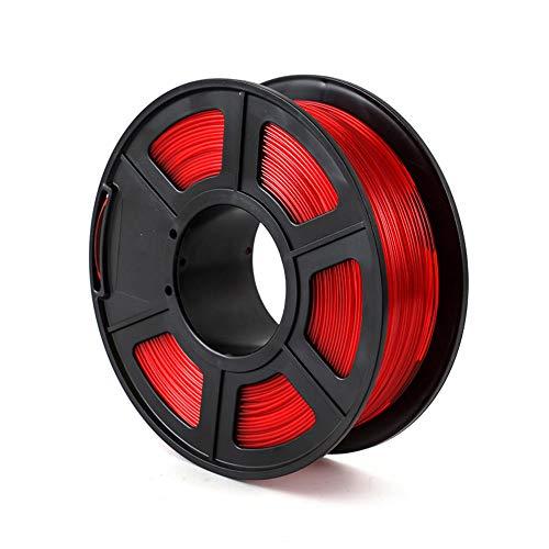 3D Printer Filament 1kg, PETG Transparent Filament 1.75mm, Good Light Transmission-Transparent red