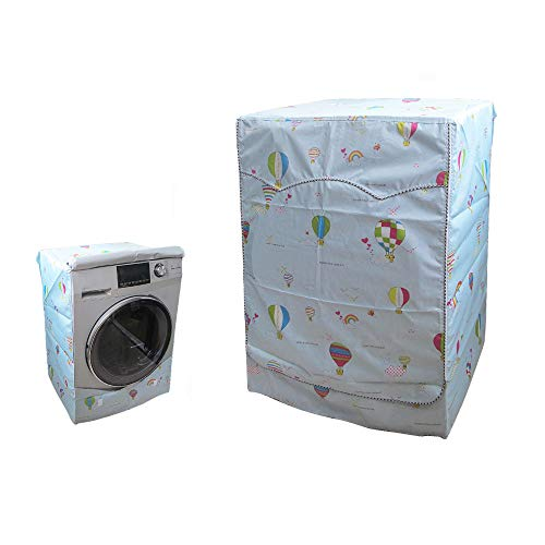 """QLLY Washer/Dryer Cover for Front-loading Machine - Waterproof, Dustproof, Sun-Proof, W27""""D33""""H39""""Suitable for most Washers/Dryers on US and Canadian market (Basic Balloon)"""
