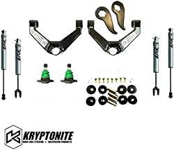 Kryptonite Stage 3 Leveling Kit with Fox Shocks Compatible with 2011-2019 Chevy/GMC 2500HD 3500HD KR11STAGE3FOX