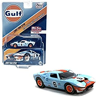 1965 Ford GT40 Gulf #6 Limited Edition to 3600 pieces 1/64 Diecast Model Car by Autoworld CP7483