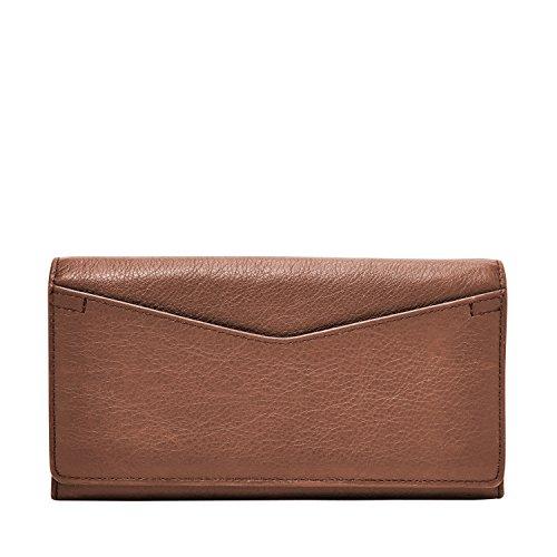 Fossil Geldbörse Caroline RFID Continental Flap Wallet Braun Damen Portemonnaie Leder Börse Geldbeutel SL7554-200