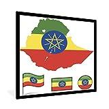 Poster mit Rahmen Äthiopien Illustration - Illustration