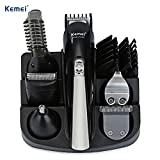 Men's Head to Toe Trimmer Kit Cordless Rechargeable Beard Trimmers Hair Clippers Groomer with Stainless Steel Blades,Cordless and USB Rechargeable