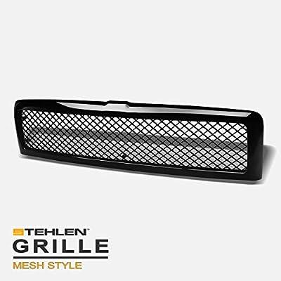 Stehlen 642167821427 Mesh Front Hood Bumper Grille - Black For 1994-2001 Dodge Ram 1500/1994-2002 2500 3500
