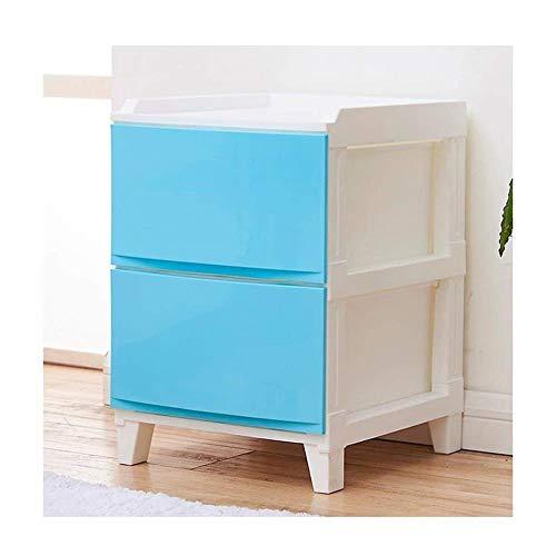 Panier de rangement La Mode tiroirs Armoire de Rangement en Plastique Multilayer Locker Simple Salon Armoire de Chevet Simple (Color : Blue)