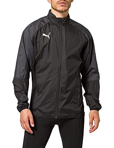 PUMA Herren Cup Sideline Woven JKT Core Trainingsjacke, Black-Asphalt, L