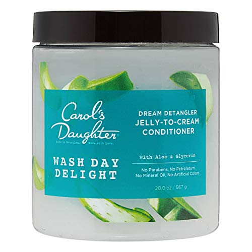 Carol's Daughter Wash Day Delight Detangling Jelly-To-Cream Conditioner with Glycerin and Aloe, Paraben-Free for Moisture, Hydration and Shine, Moisturizing Conditioner for Curly Hair with Aloe, 20 Oz