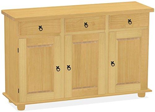 Sideboard Eiche hell Rio Classico Esszimmer Holz Pinie Massivholz Echtholz Farbe wählbar Brasilmöbel