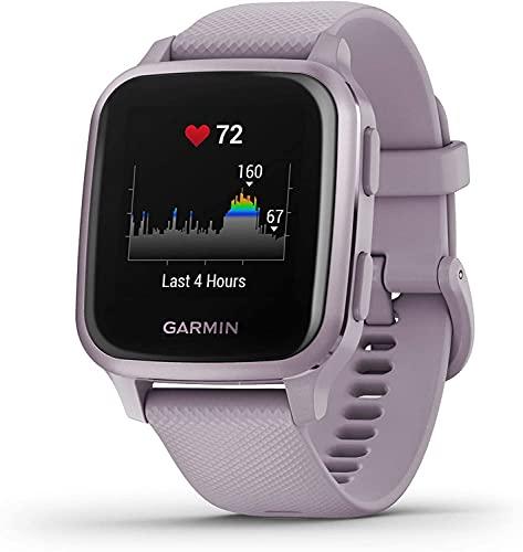 Garmin Venu Sq, Smartwatch GPS Sport con Monitoraggio della Salute e Garmin Pay, Viola (Lavanda/Viola)