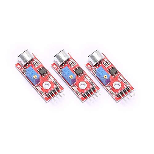 DEVMO 3PCS Mic Microphone Sensor High Sensitivity Sound Detection Module Compatible with A-rduino PIC AVR
