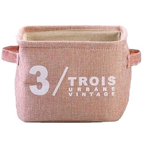 Ropa de escombros Caja de Almacenamiento Organizador de Escritorio Cesta Mujeres Maquillaje Accesorios de contenedores 20.5 * 17 * 15cm