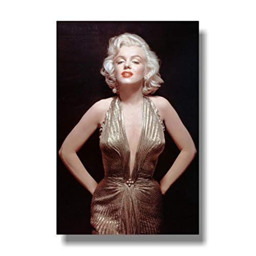Wxuuly Black White Marilyn Monroe Smoking Poster Portrait Canvas Painting and Prints Cool Girl Wall Art Picture for Room Home Decor A2 20x28inch(50x70CM) No frame