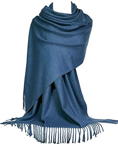 GFM Soft Kaschmir Effekt Schal in Pashmina Stil für Herbst und Winter (S1-16-Lux-HLGHNL)