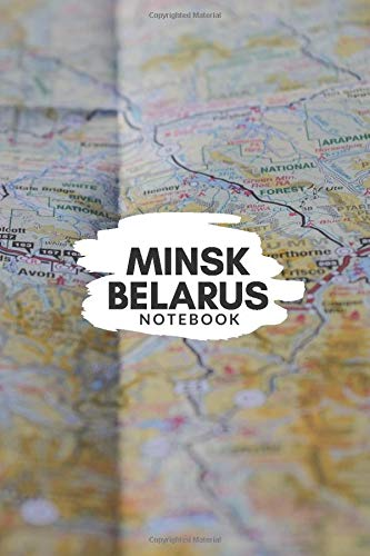 Minsk Belarus Notebook: City Map Notebook for Travelers, Diary Writing Subject Memo Book Planner with Lined Paper, 6x9 Inches, College Ruled   120 Lined Pages