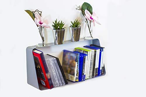 OTZ HI Gloss Wit zwevende plank boekenplank DVD Opslag decoratieve metalen zwevende plank keuken slaapkamer hal zwevende plank glans PS4 Xbox games opslag rack