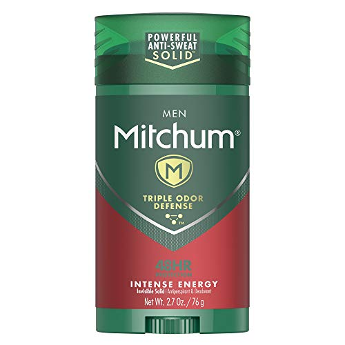 Mitchum Antiperspirant Deodorant Stick for Men, Triple Odor Defense Invisible Solid, 48 Hr Protection, Dermatologist Tested, Intense Energy, 2.7 oz