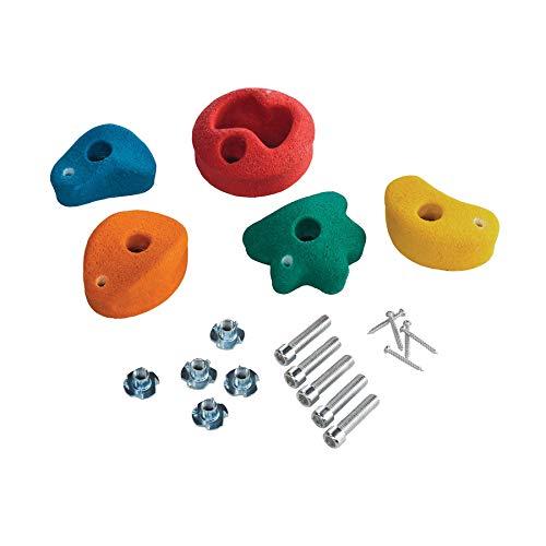 5 Stück h2i Klettersteine Klettergriffe für Kletterwand - klein - 8,6 x 8,6 cm für Kinder und Erwachsene