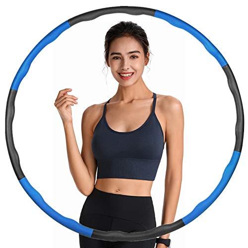 LangKing Sumairs Hula Hoop Reifen, Fitness Hoola Hoop Kinder Schaumstoff, 6-8 Segmente Abnehmbarer Hoola Hoop Reifen Geeignet Für Fitness/Sport (Color : Blau grau)…