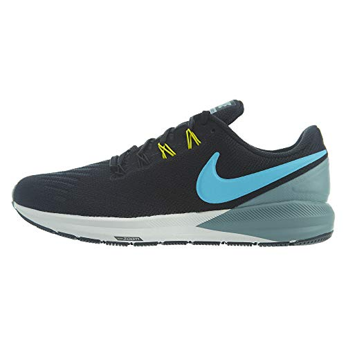 Nike Air Zoom Structure 22 Mens Aa1636-005 Size 7.5, Black/Blue Fury-aviator Grey